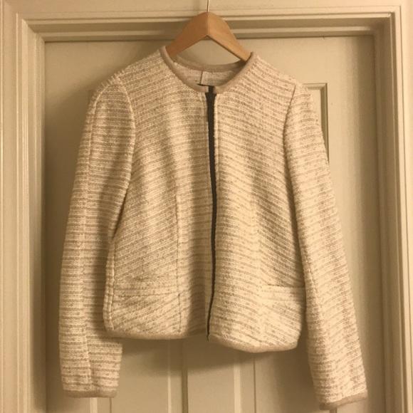 fd5b8c56 Zara Jackets & Coats | Cream Tweed Chanellike Jacket Blazer | Poshmark